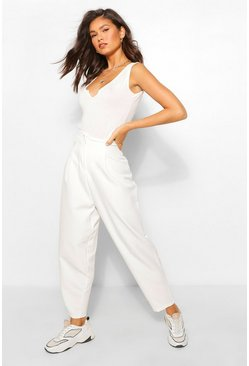 Ivory white Tailored Trouser