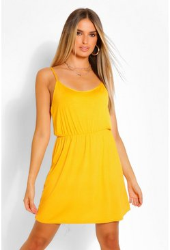 Mustard Short Sleeve Sundress