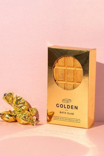 Gold metallic Miss Patisserie Golden Bath Slab