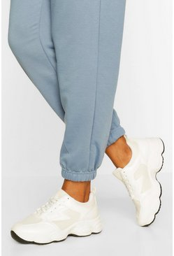 White Basic Chunky Trainers