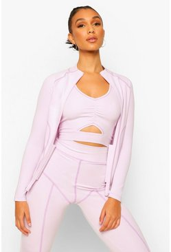 Lilac purple Fit Premium Contrast Stitch Jacket