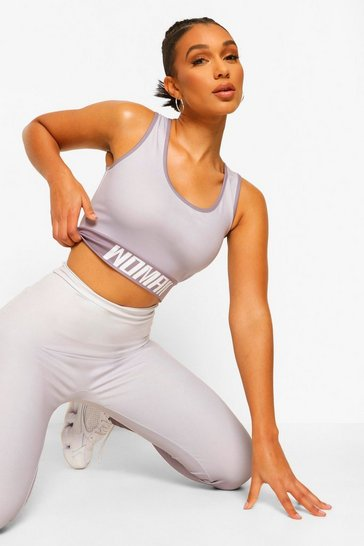Grey Fit Woman Ombre Sports Bra