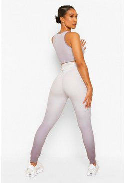 Grey Fit Ombre Booty Boost Gym Leggings