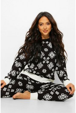 Black Snowflake Christmas Co-ord