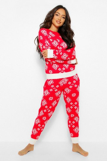 Red Snowflake Christmas Co-ord