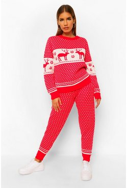Red Fairisle Christmas Co-ord