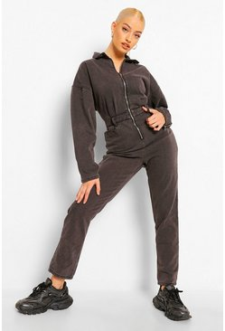 Grey Denim Baggy Mom Boilersuit
