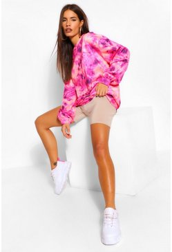 Sweat oversize tie-dye, Rose