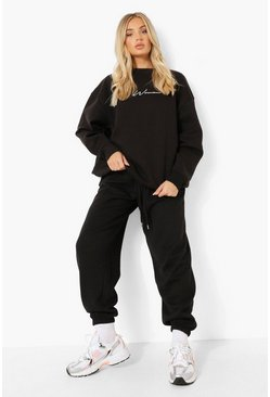 Black Basic Oversized Joggers