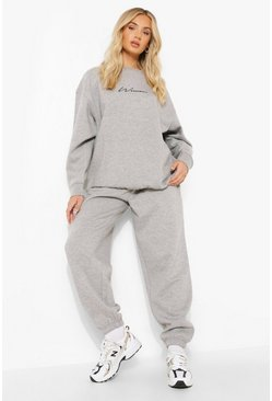 Grey marl grey Basic Oversized Joggers