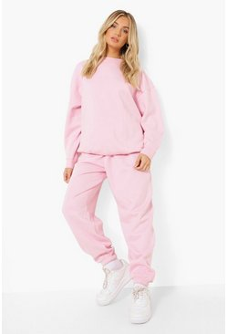 Basic Oversized-Jogginghose, Pale pink rosa