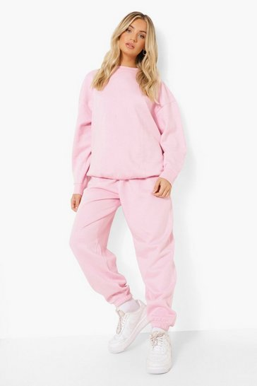 Pale pink pink Pink Basic Oversized Joggers