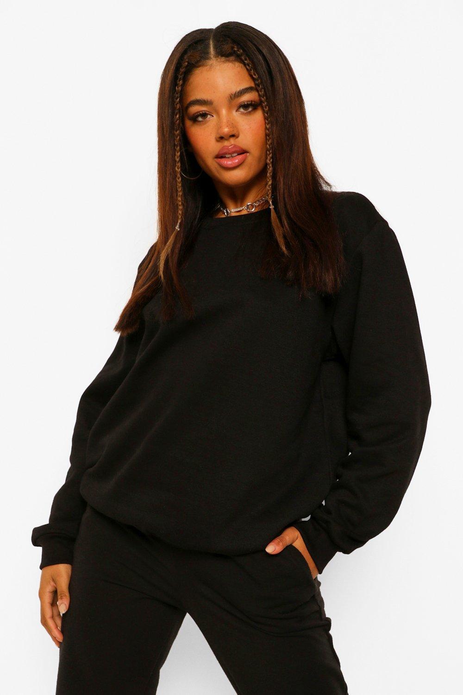 Sweatshirts Black Basic Oversized Sweatshirt