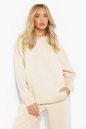 Stone Basic Oversized Hoody