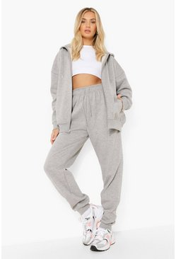 Grey marl Basic Cuffed Hem Joggers