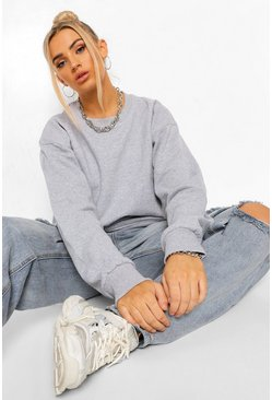Grey marl grey Basic Sweatshirt