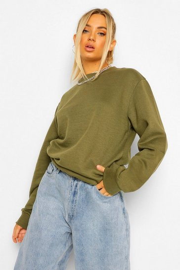 Khaki Basic Sweatshirt