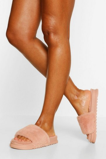 Pink Fluffy Sliders