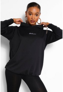 Black WOMAN PRINT HOODY