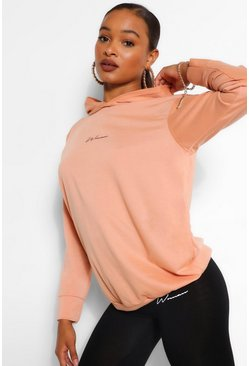 Peach WOMAN PRINT HOODY
