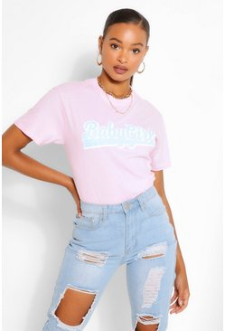 Pink BABY GIRL SLOGAN T-SHIRT