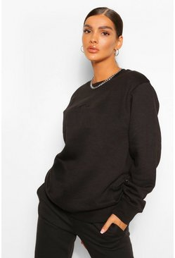 Black Woman Signature Oversized Sweater