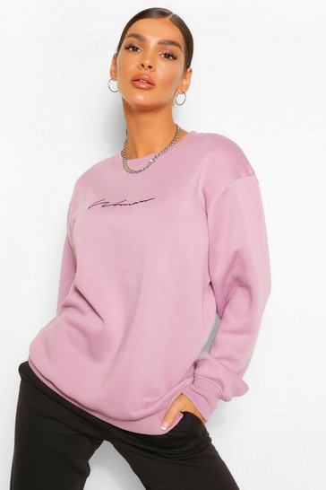 Lilac purple Purple Woman Signature Oversized Sweater