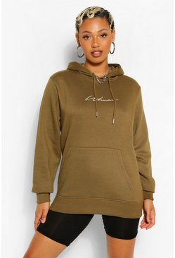 Khaki Woman Signature Hoody