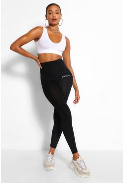 Black WOMAN PRINT LEGGING