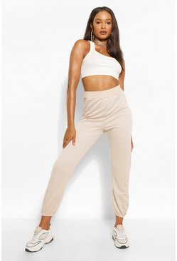 Ecru white Basic Regular Fit Joggingbroek