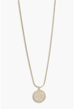 Gold metallic Adjustable Stone Detail Necklace