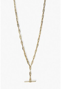 Gold metallic Chain Link T-Bar Choker