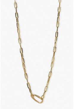 Gold metallic Circle Link Choker Necklace
