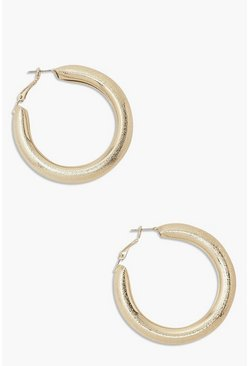 Gold metallic Chunky Hoop Earrings