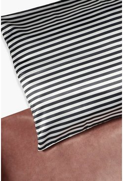 Black Stripe Hair Protect Satin Pillow Case