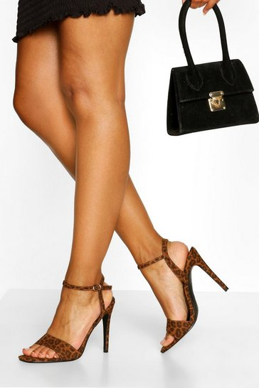 Leopard multi Basic Stiletto Heel Two Parts