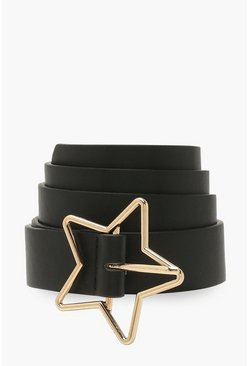 Black Star Buckle Boyfriend Belt