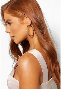 Gold metallic Layered Hoop Earring