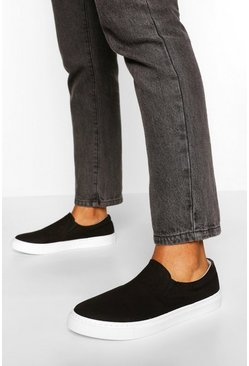 Black Basic Slip On Skater