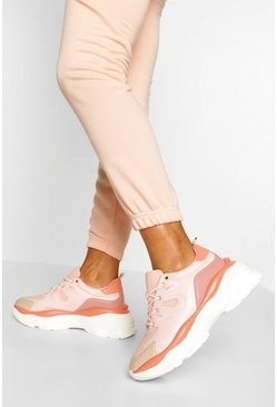 Pink Super Chunky Platform Trainers