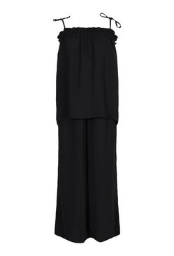 Black Cami Top and Wide Leg Trouser Co-ord