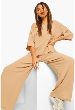 Sage green Oversized Luxe Top And Wide Leg Pants Two-Piece