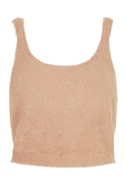 Camel Premium Fluffy Knit Top