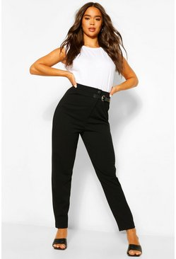 Black Tailored Relaxed Buckle Trouser