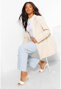 Off white white Tailored Longline Edge To Edge Blazer