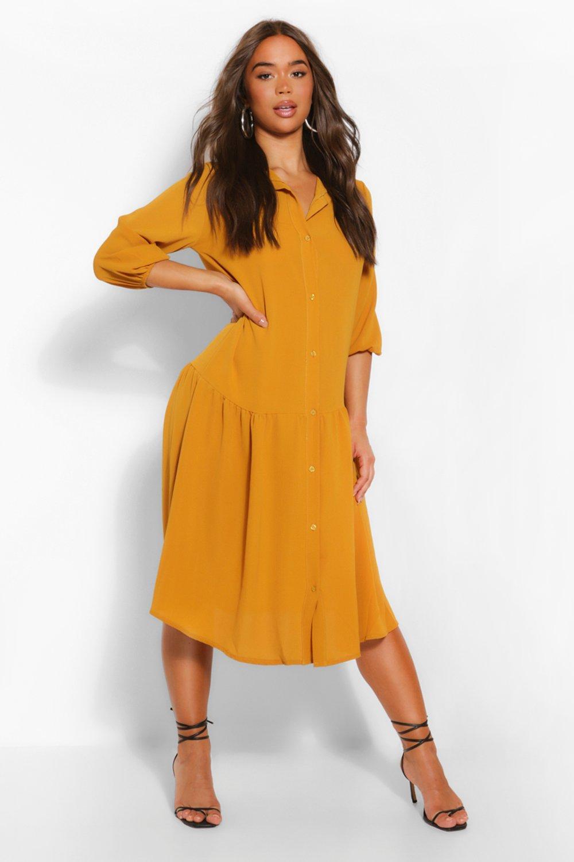 DRESSES Drop Hem Shirt Dress