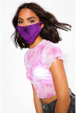 Purple Tie Dye Fashion Face Mask