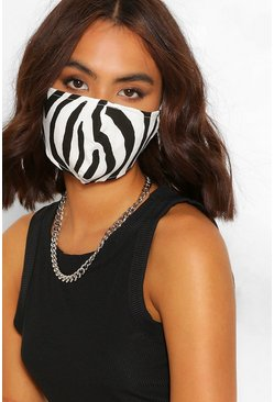 Blackwhite Zebra Fashion Face Mask