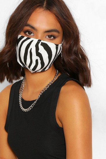 Blackwhite black Zebra Fashion Face Mask