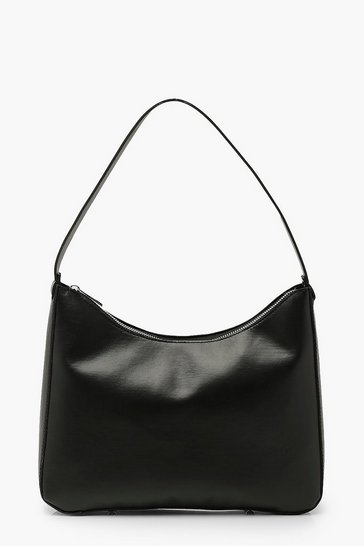 Black Pu Underarm Shoulder Bag